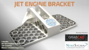 Crowdsourcing the design of a jet engine bracket at GE